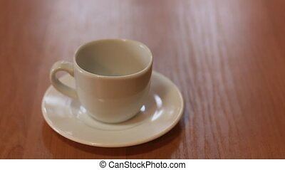 pour coffee in cup
