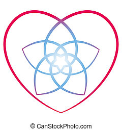 Flower of the Venus Heart - Flower of venus with surrounding...