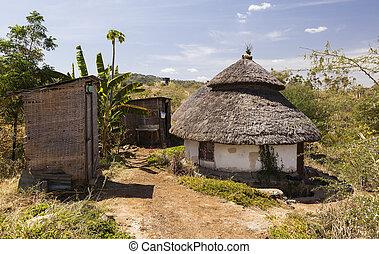 Traditional Ethiopian house Karat Konso Ethiopia