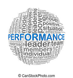 Wordcloud word tags ball of performance