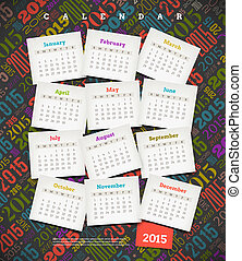 Vector illustration - Calendar 2015