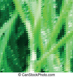 Grass themed background with triangular grid