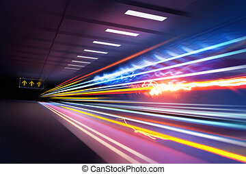 Super Light trails - Traffic light trails through an urban...