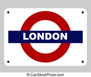 London Underground tube sign - London underground tube...