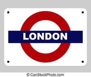 London Underground tube sign - London underground tube...