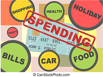 Spending - Illustration of the structure of spending the...