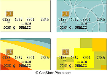 Smart card - A set of smart card. Vector