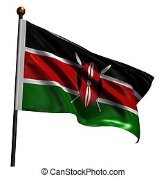 High resolution flag of Kenya - Flag of Kenya. High...