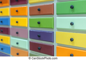 lockers - color lockers with handles closeup