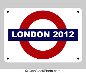London Olympics concept - London 2012 underground tube...