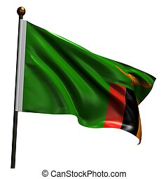 High resolution flag of Zambia - Flag of Zambia. High...