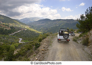 Turkey\'s jeep safari - Jeep safari. Mountains of Alanya,...