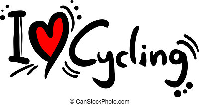 Cycling love - Creative design of cycling love