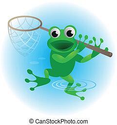 Cartoon frog.