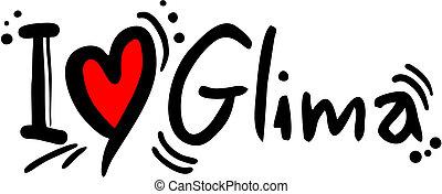 Glima love - Creative design of glima love