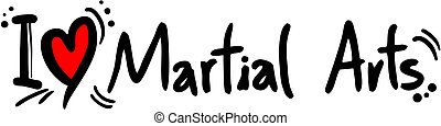 Martial arts love - Creative design of martial arts love