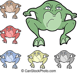 Color frog - Creative design of color frog