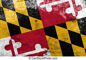 Maryland State Flag with a vintage and old look