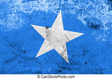 Somalia Flag with a vintage and old look