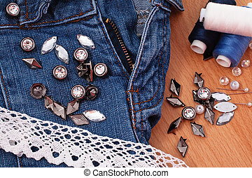 decoration jeans - restoration and decoration of jeans with...