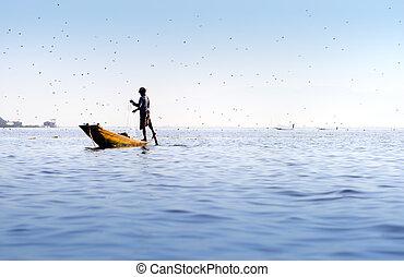 Inle lake in Burma