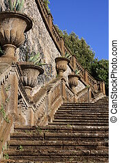 Stairs in Frascati (Rome, Italy) - The most popolar park in...