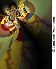 Psyche Background - Offset view of earthy fractal vortex...