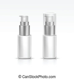 Vector Blank Spray Bottle - Vector Illustration of Blank...