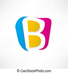Abstract icon based on the letter B