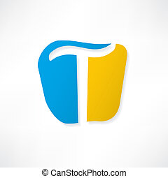 Abstract icon based on the letter T