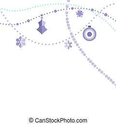 Christmas decorations over the white background - vector
