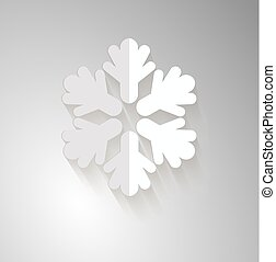 Snowflake Vector illustration on gray backdrop