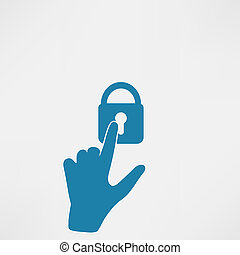 Hands with key icon