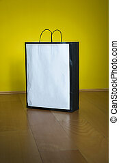 Shopping Bag Copy Space Wooden Floor