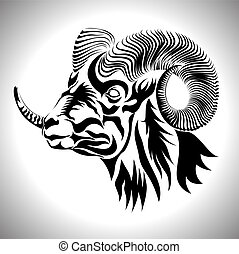 mountain goat for tattoo, sticker and any  logo