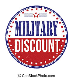 Military discount stamp - Military discount grunge rubber...