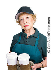 Senior Woman Barrista