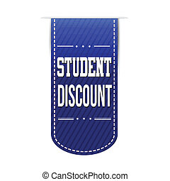 Student discount banner design over a white background,...