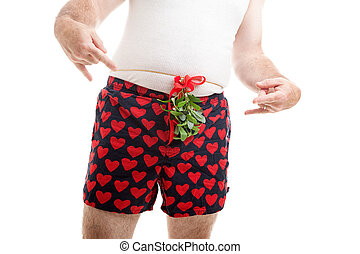 Guy Wants Christmas Kiss - Horny guy wearing his underwear,...