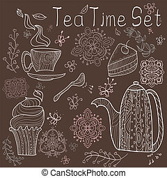 Tea time set card