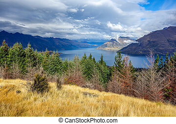 New Zealand 7 - Wakatipu Lake from Queenstown Hill New...
