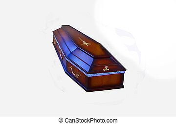 Coffin - The isolated coffin with white background