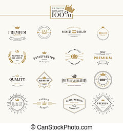 Set of premium quality labels - Set of vector premium...