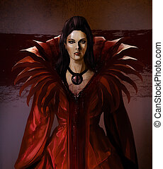 Vampire bloody countess standing art
