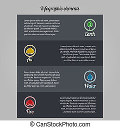 Ecological infographic elements - Elements of info graphics...
