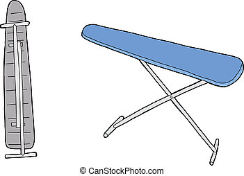 Isolated Ironing Board - One isolated hand drawn cartoon...