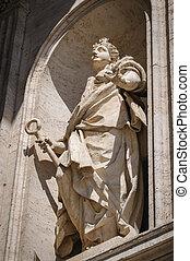 wal,  ST, estátua, Vaticano, catedral,  Peter