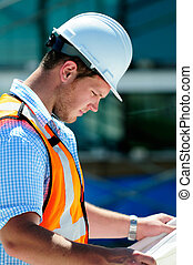 Civil Engineer - Young Attractive Male Civil Engineer,...