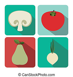 Vegetable design - Vegetable and Fruit design over...