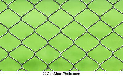 chainlink - closeup of chainlink with nature background
